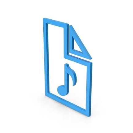 Symbol Audio File Blue