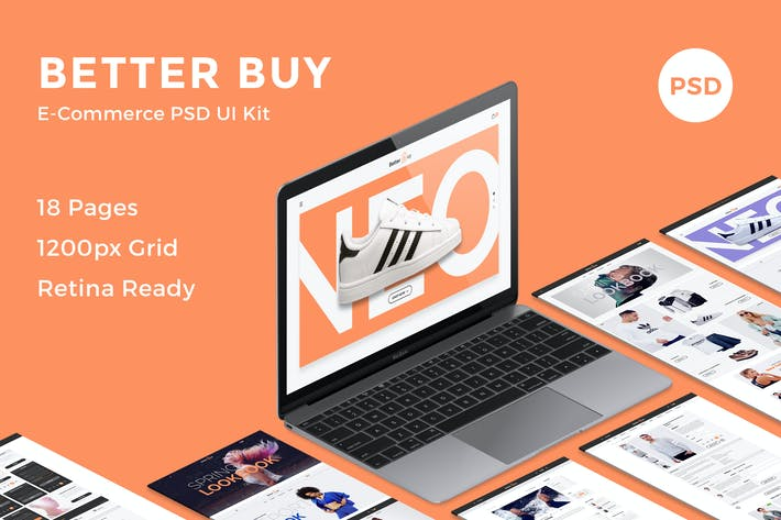 Thumbnail for Better Buy - E-Commerce PSD UI Kit