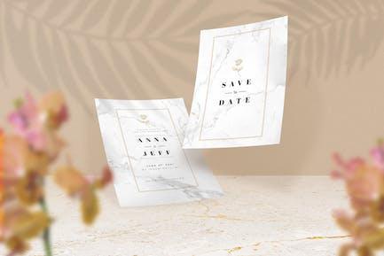 A5 Size Paper Invitation Mockup