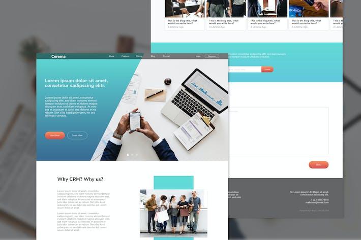 Cerema CRM-Website Adobe XD-Vorlage