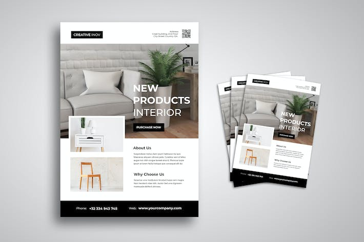Thumbnail for Interior Furniture Flyer