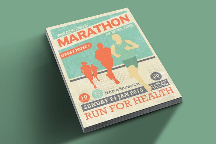 Thumbnail for Marathon Event Flyer Template