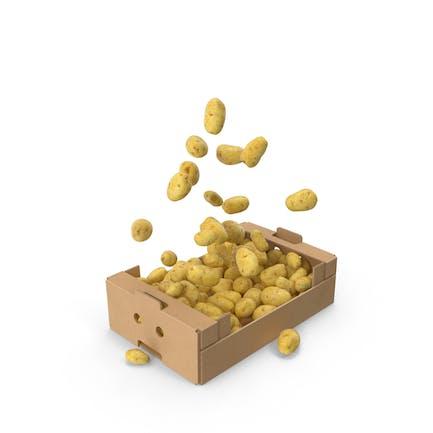 Box mit fliegenden Kartoffeln