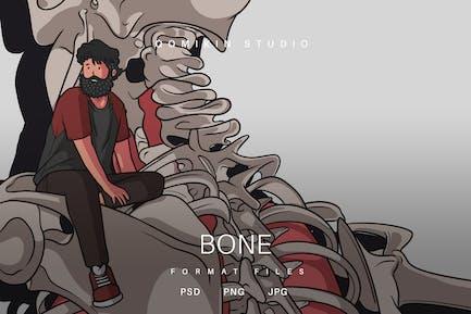 Knochen-Illustration