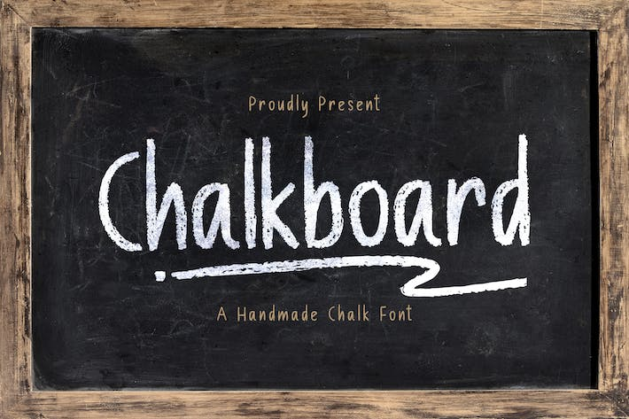 Thumbnail for Chalk Board - A Handmade Chalk Font