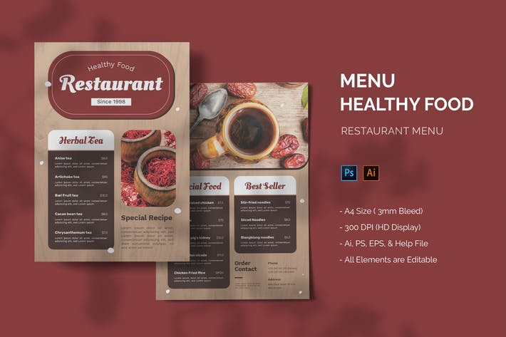 Healthy Food - Restaurant Menu