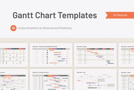 Gantt Chart Keynote Templates
