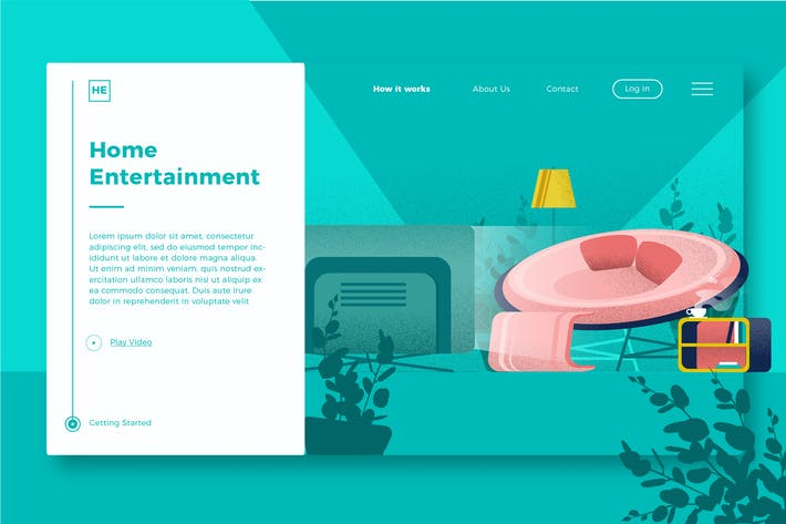 Thumbnail for Home Enterteinment - Banner & Landing Page