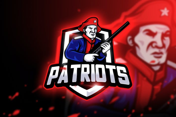 Thumbnail for Patriots Gaming - Mascot & Esport Logo
