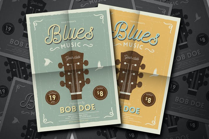 Thumbnail for Vintage Jazz & Blues Guitar Flyer