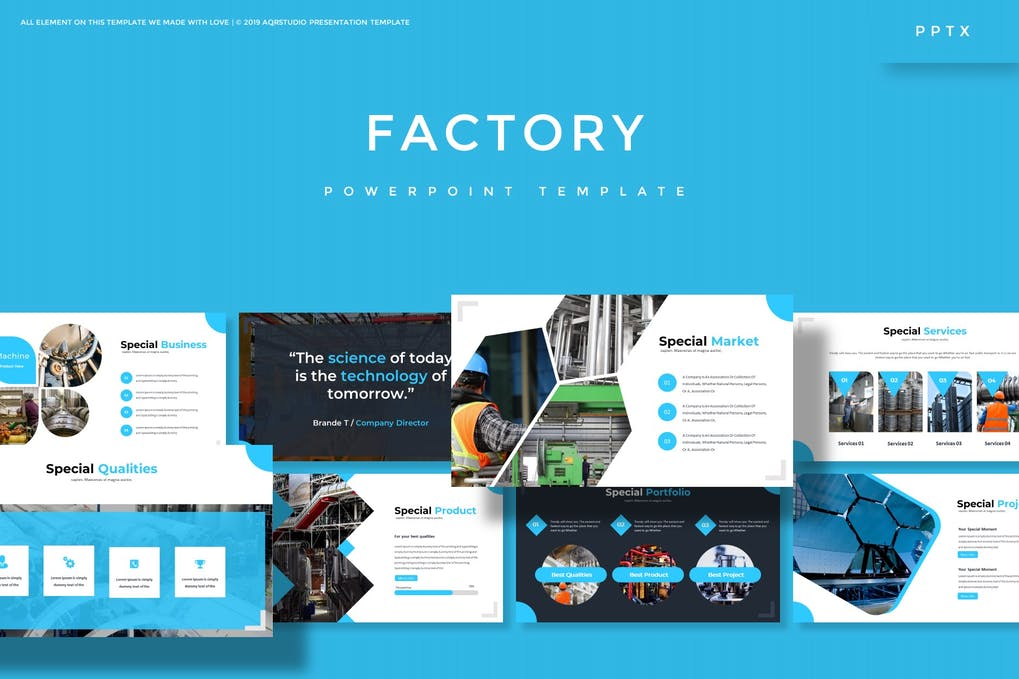 Factory Powerpoint Template By Aqrstudio On Envato Elements