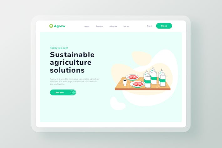 Thumbnail for Agriculture Farm Products Landing page header