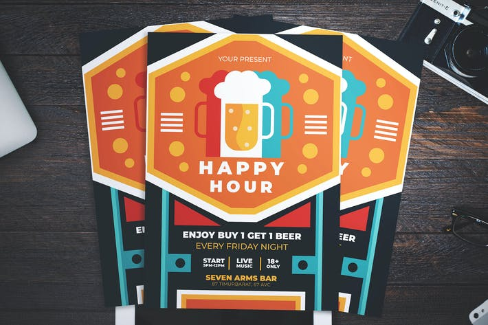 Cover Image For Beer Happy Hour Flyer