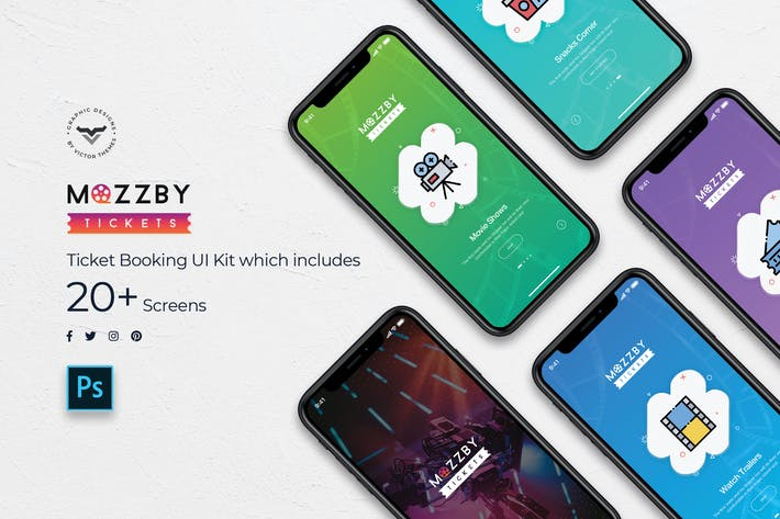 Thumbnail for Mozzby Mobile App UI Kit