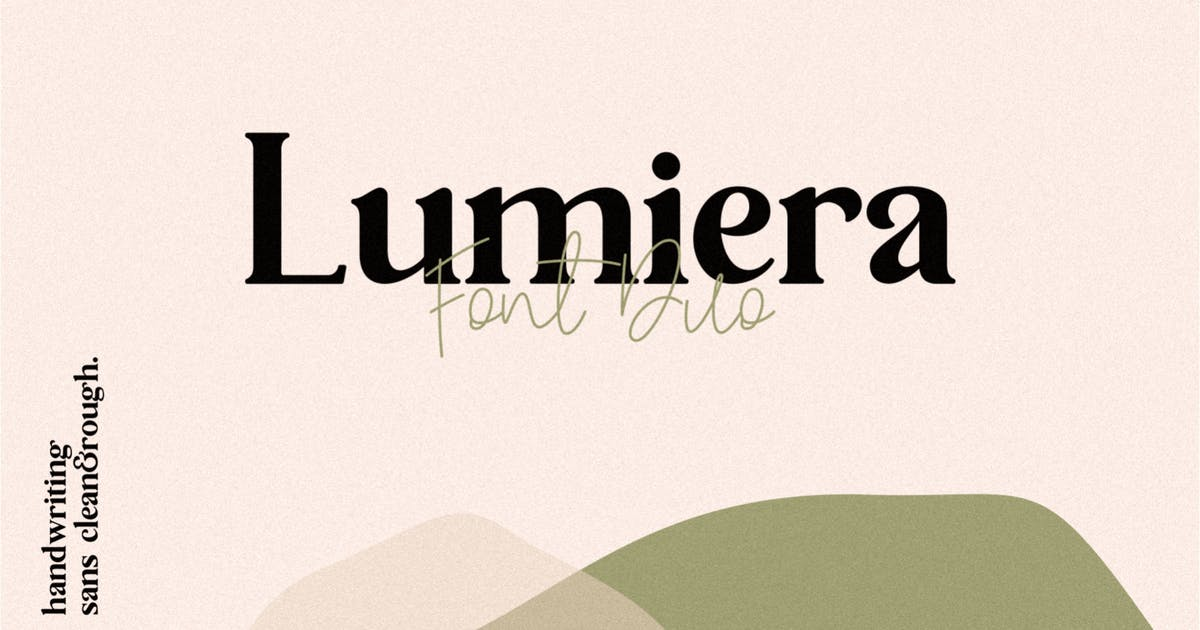 Download Lumiera Font Duo by Holismjd