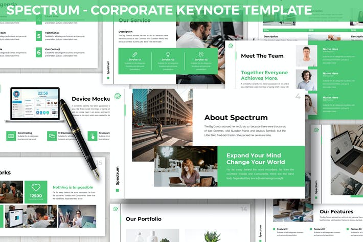 Thumbnail for Spectrum - Corporate Keynote Template