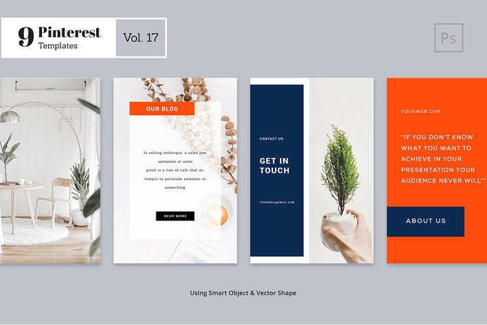Thumbnail for Pinterest Templates Vol. 17