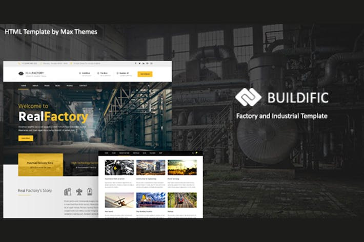 Thumbnail for Buildific - Factory and Industrial HTML Template