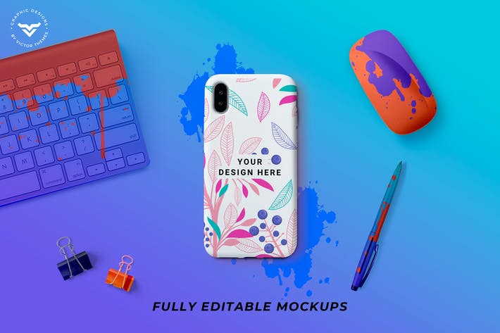 Thumbnail for Mobile Cover Mockup Template