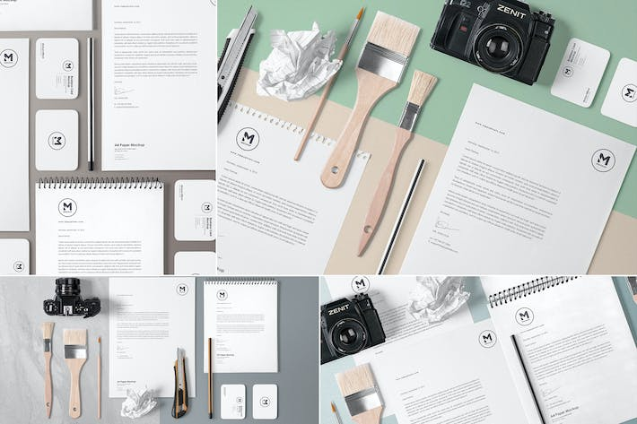 Thumbnail for 4 Stunning Stationery Mockups Set