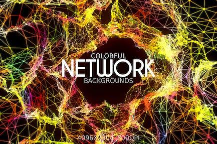 Bunte Netzwerk-Hintergründe