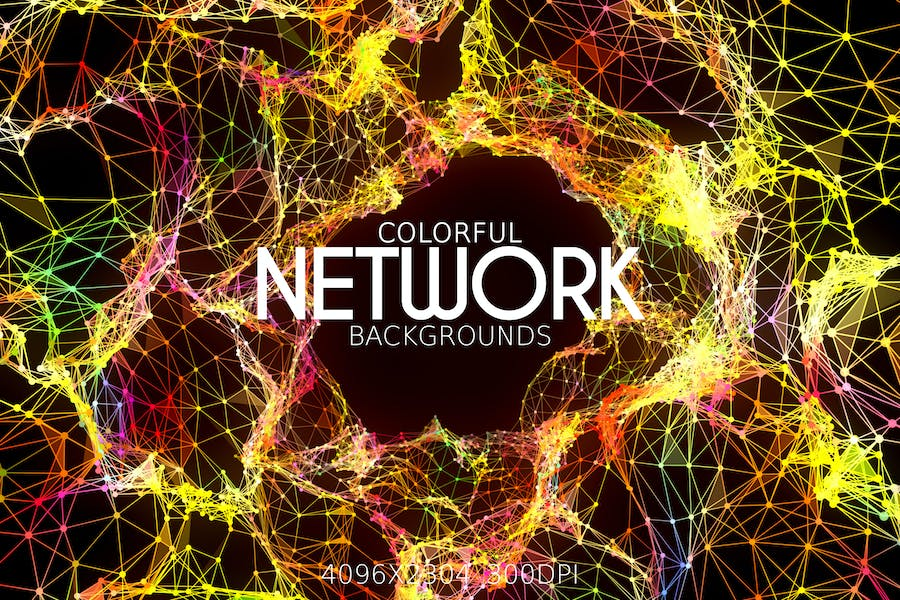 Colorful Network Backgrounds