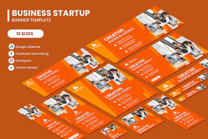 Business Startup Google Adwords Banner Template
