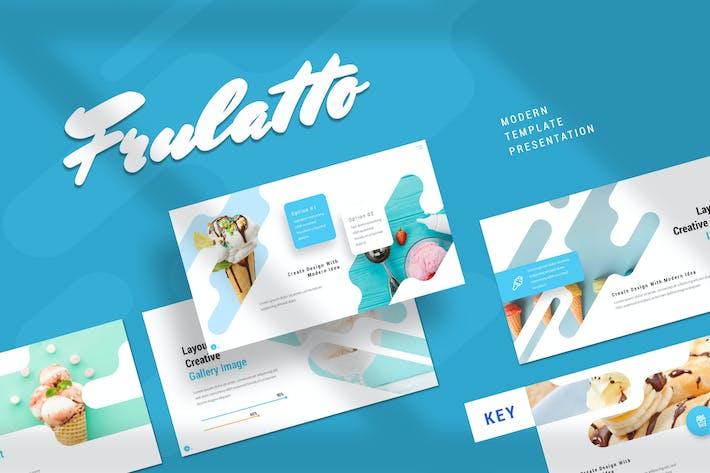 Thumbnail for Frulatto - Шаблон Keynote для мороженого
