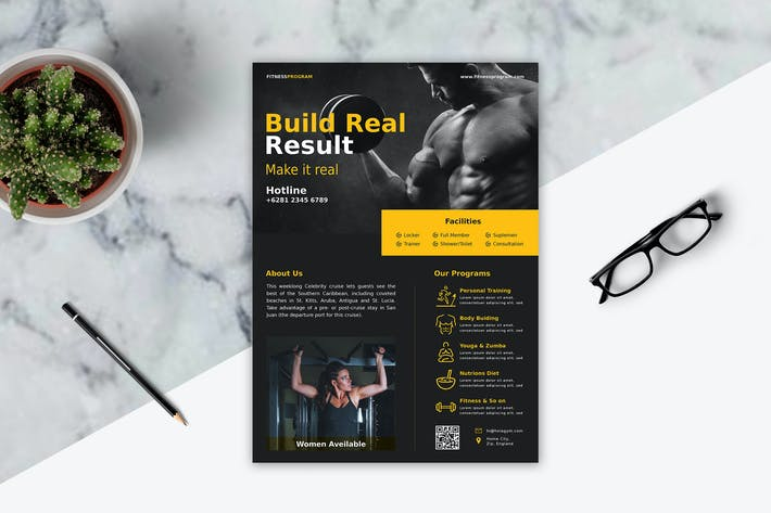 Cover Image For Fitness Flyer Template Vol. 1