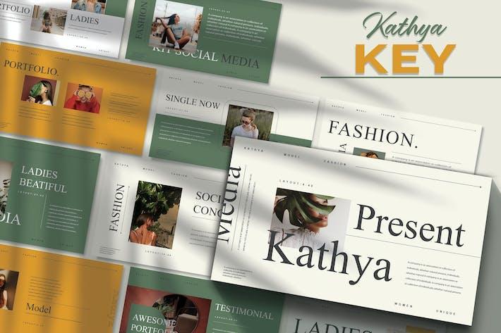 Thumbnail for KATHYA - Мода Шаблон Keynote