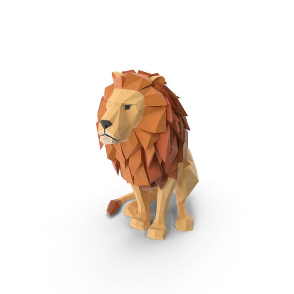 Thumbnail for Low Poly Lion