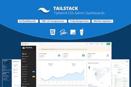 TailStack - Modèle de tableaux de bord d'administration CSS Tailwind