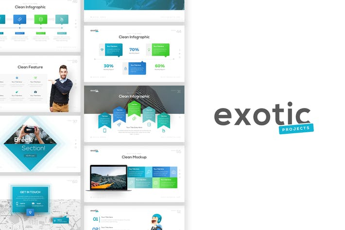 Thumbnail for Exotic Project Presentation Template