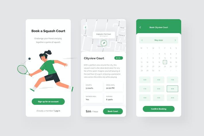 Cover Image For Squash App UI Kit