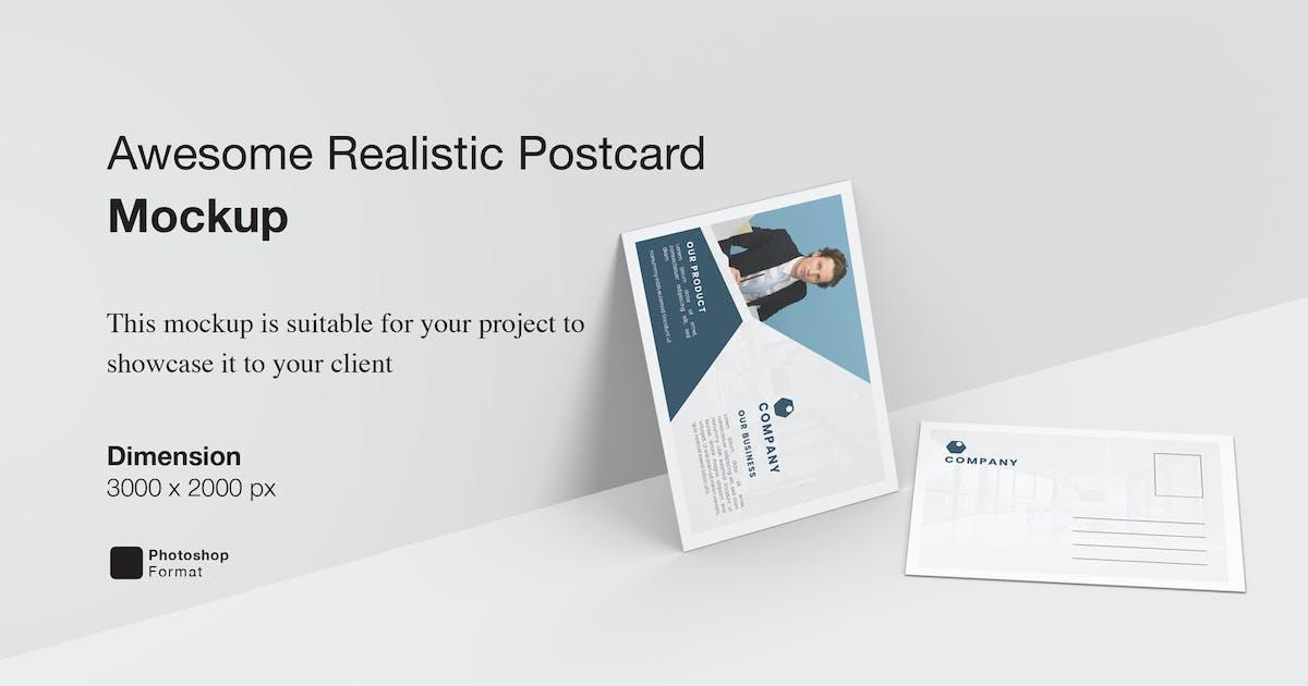 Download Awesome Realistic Postcard Mockup by IanMikraz