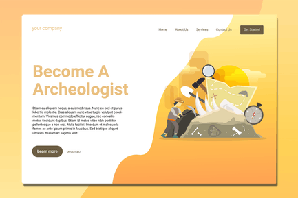 Archeologist - Landing Page
