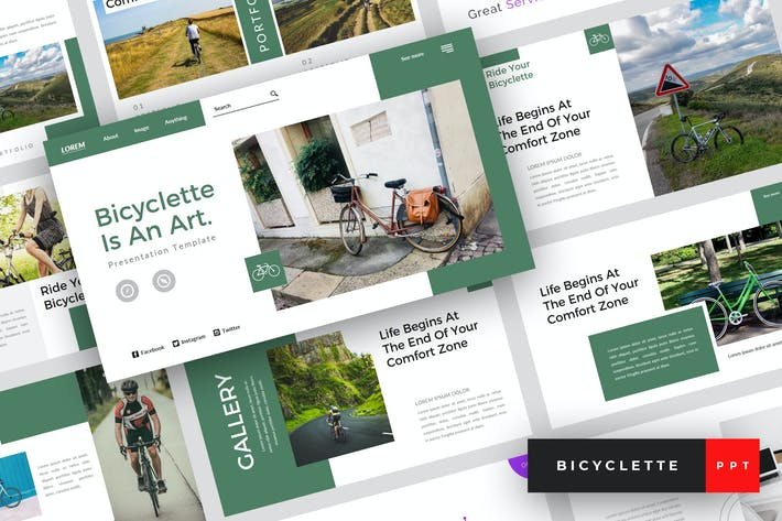 Thumbnail for Bicyclette - Bicycle PowerPoint Template