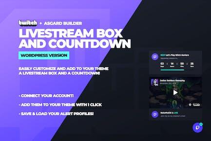 Twitch LiveStream Box and Countdown Plugin