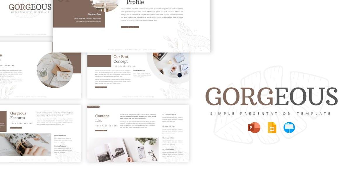 Download Gorgeous - Presentation Template by Fannanstudio