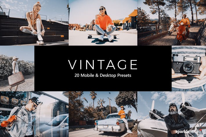 Thumbnail for 20 Vintage Lightroom Presets and LUTs