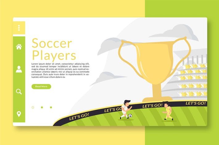 Thumbnail for Soccer Players - Web Header & Landing Page GR