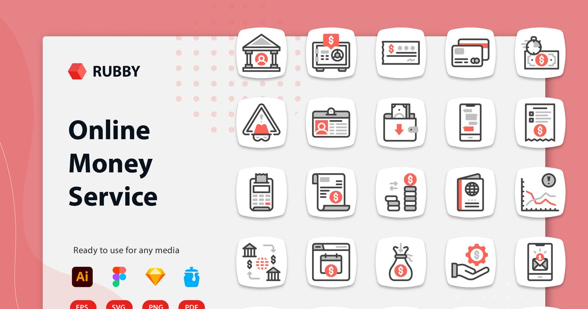 Download Rubby - Online Money Service Icons by kerismaker