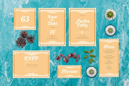 Rose Flower Frame - Wedding Invitation