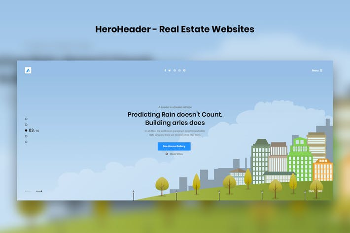 Thumbnail for HeroHeader for Real Estate Websites-14