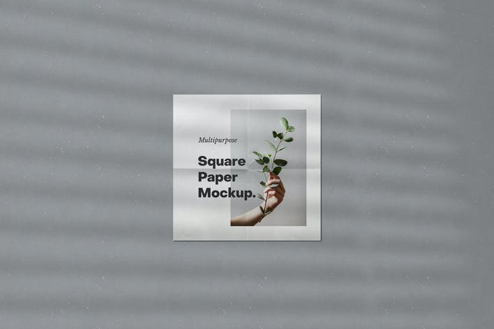 Thumbnail for Multipurpose Square Paper Mockup
