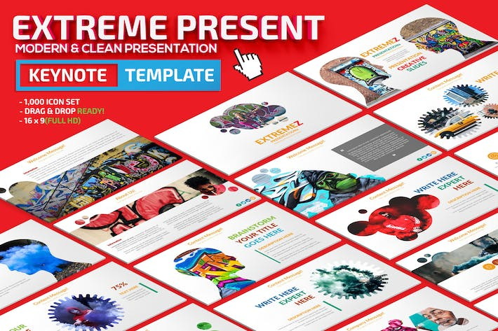 Thumbnail for Extreme Keynote Presentation Template