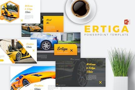 ERTIGA - Sport Car Powerpoint Template