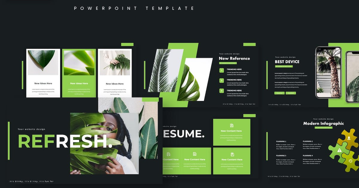 Download Green - Powerpoint Template by aqrstudio