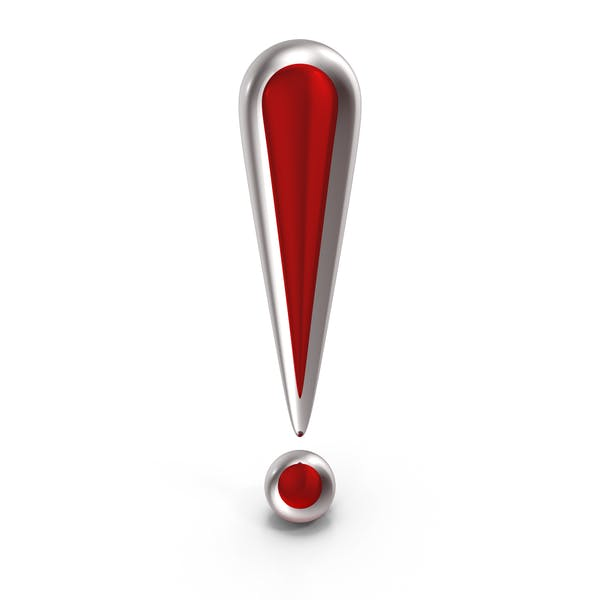 Exclamation Mark Red Glass
