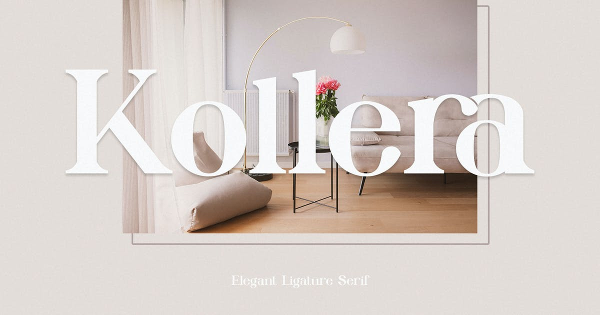 Download Kollera Elegant Ligauture Serif by Alfinart